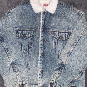 vintage levi's sherpa jacket